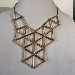 Gold Web Statement Necklace